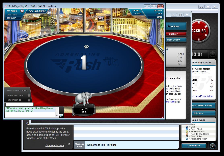 Software Snapshots: Full Tilt's Adrenaline Rush | Poker Industry PRO