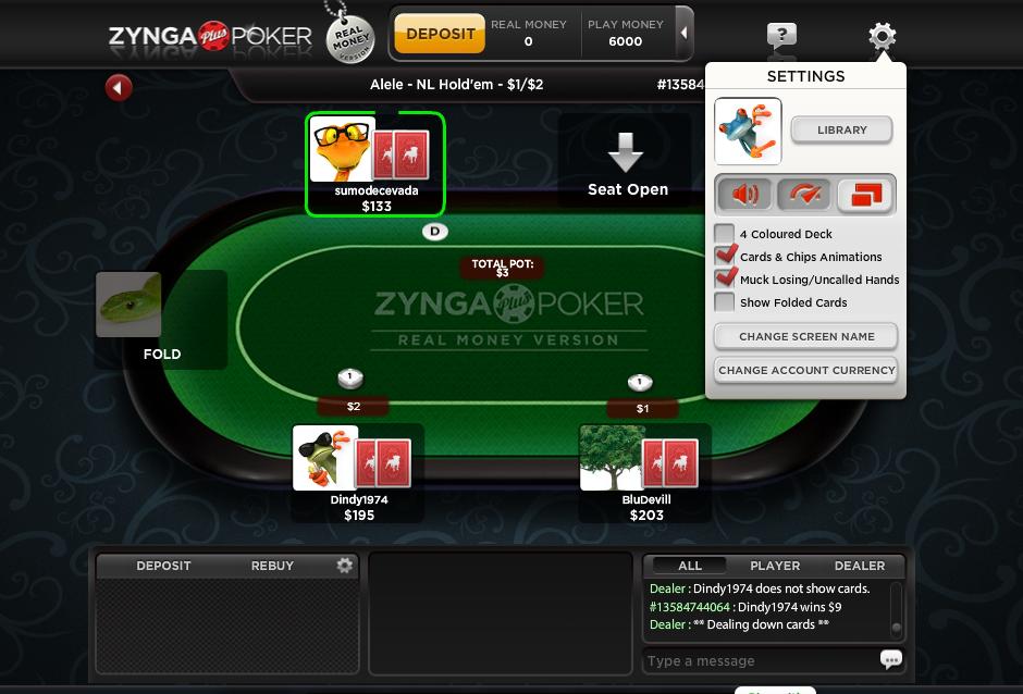Software Snapshots Zynga Plus Poker On Facebook Poker Industry Pro