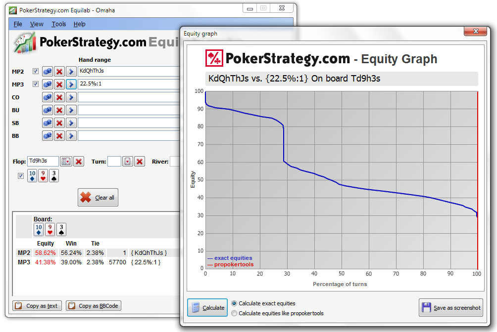Equliab Omaha: PokerStrategy's New Free PLO Calculator
