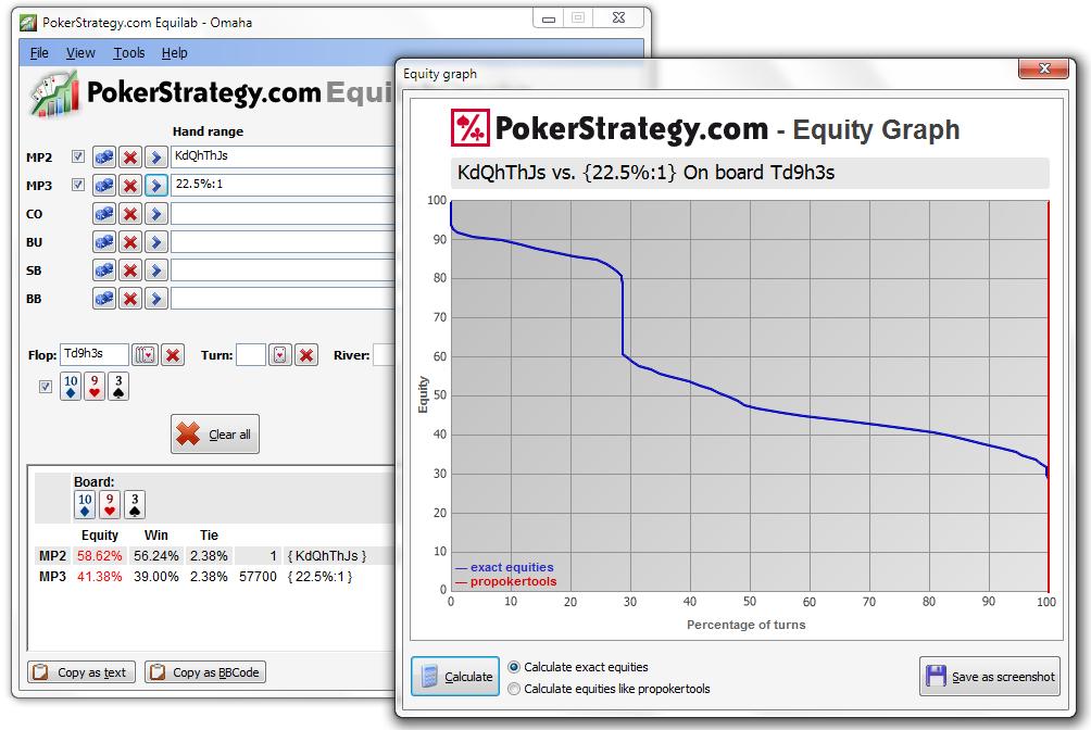 Poker strategy calculator