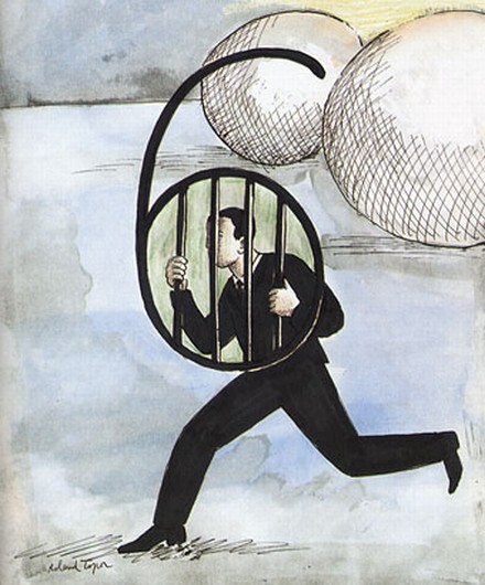 Number 6 - The prisoner, by Roland Topor