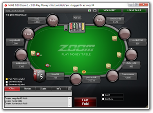 Fast-folding at PokerStars Zoom