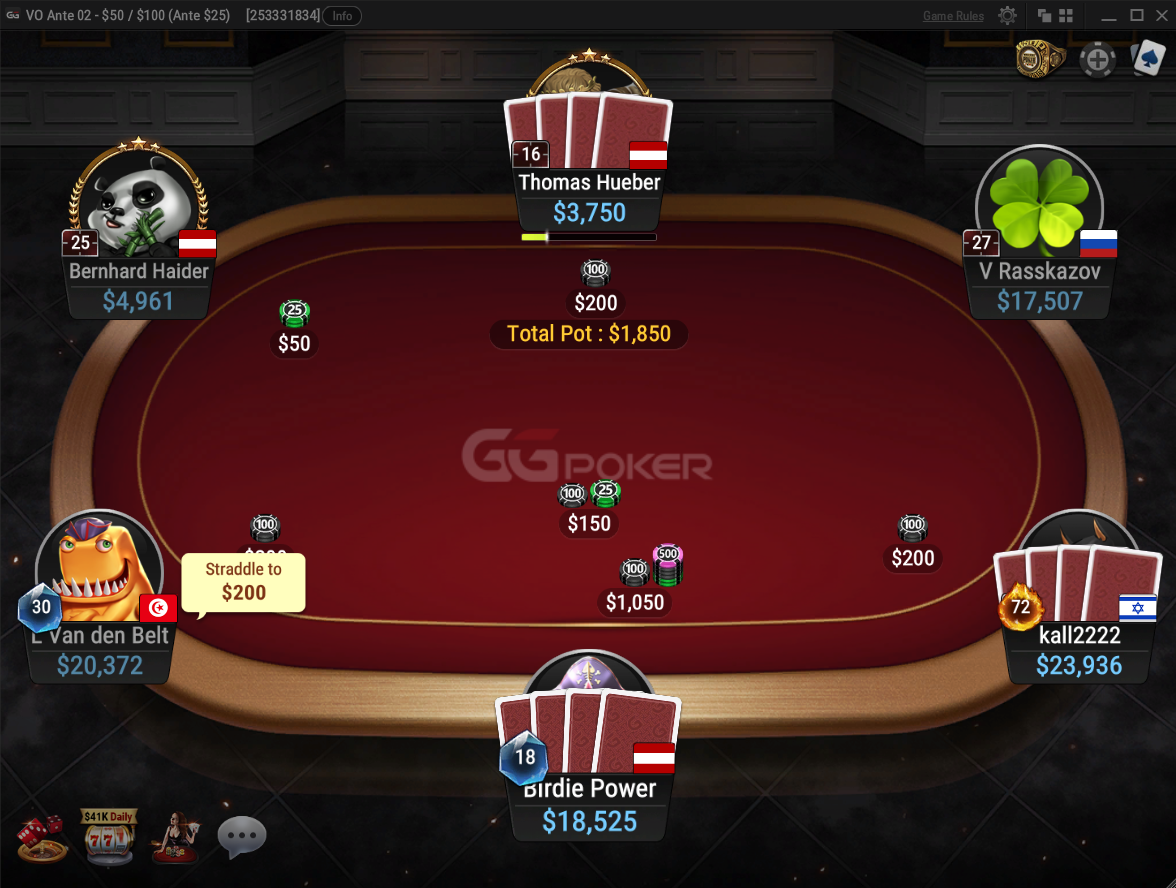 Sleek and stylish table design makes playing at GGPoker a great experience