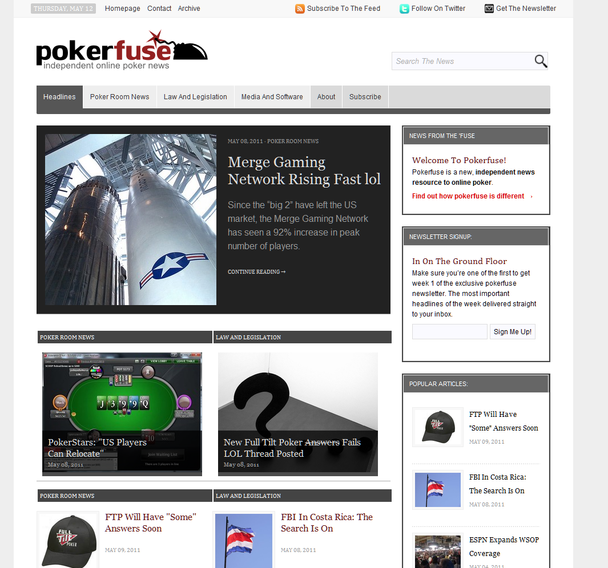 Pokerfuse v1 homepage