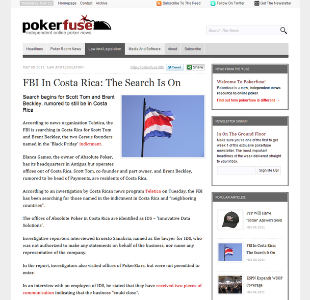 Pokerfuse v1 article view