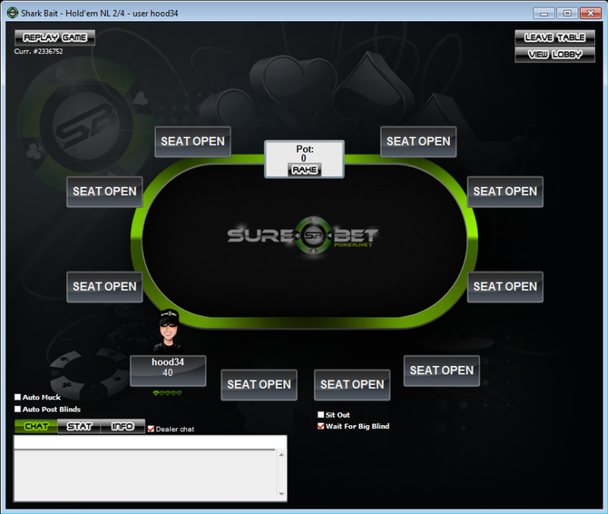 The new Sure Bet Poker lobby