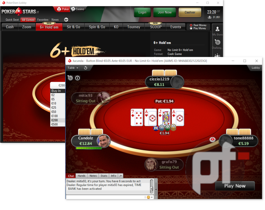 PokerStars Rolls Out 6+ Hold'em in Italy, 6+ Tournaments Set to Debut