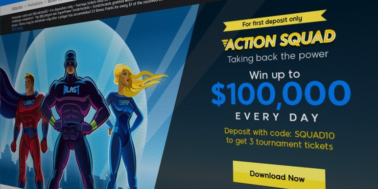 While following its tried-and-tested format of simple daily missions, freerolls and lottery wheel spins, the superhero-themed promotion focuses the attention on 888's new fast-format tournament and cash game structures.