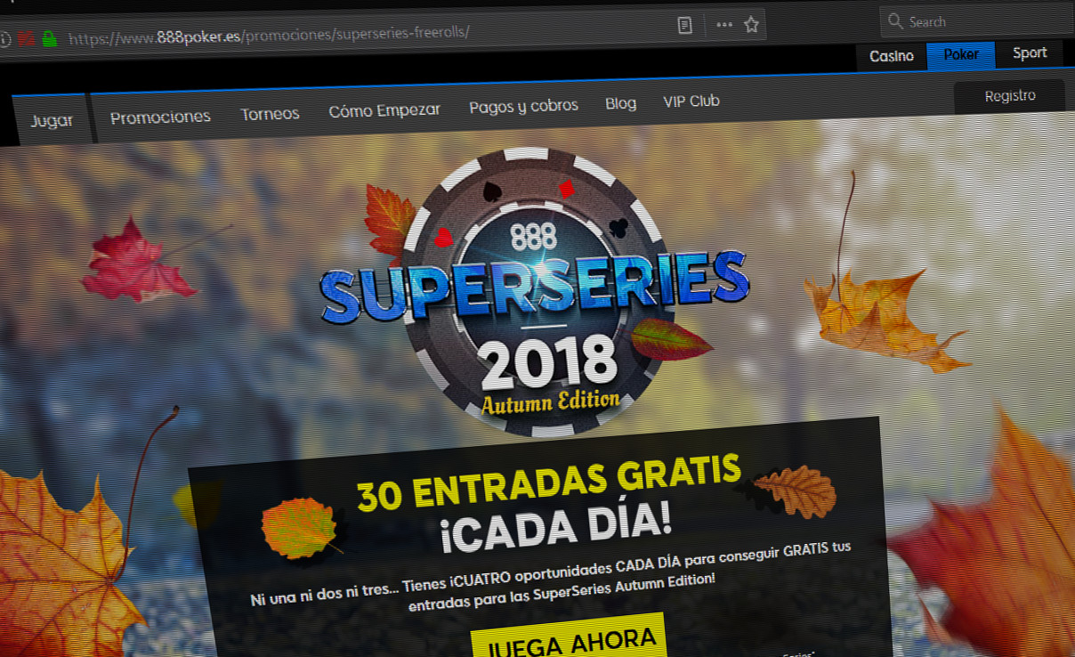888Poker's Super Series in the Italian and Spanish market is underway. In total, €820,500 (almost a million in USD) is being awarded over the period of two weeks across both markets.