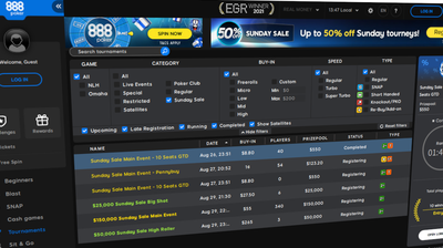 Half Price Sale Runs for 888poker Again This Weekend