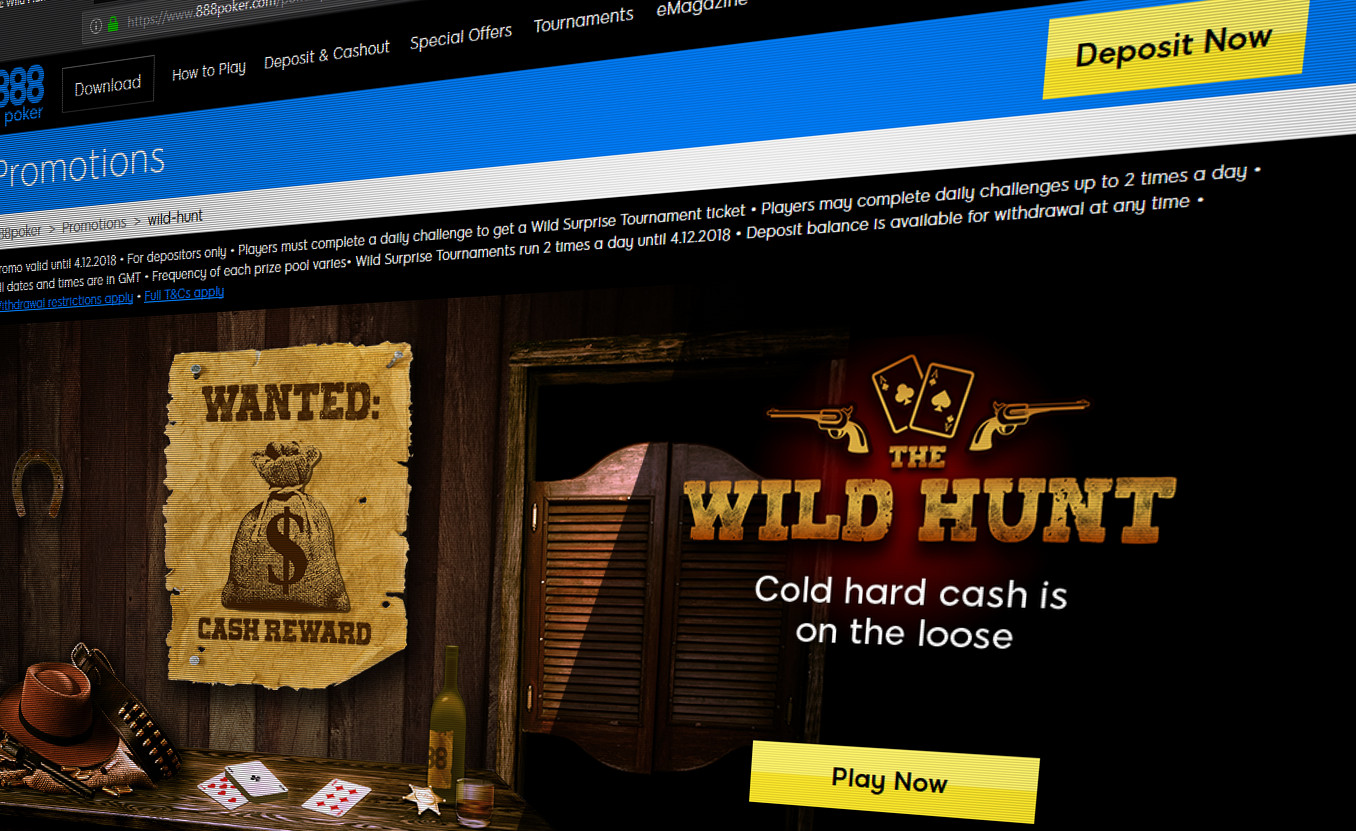 888 Releases Major New Poker Promotion As Company Tackles Declining Online Poker Revenue