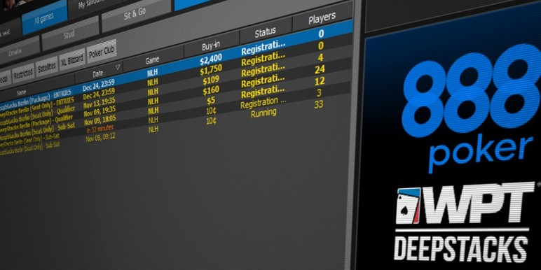 Satellites for the Berlin DeepStacks event are already running and available in the 888poker client.