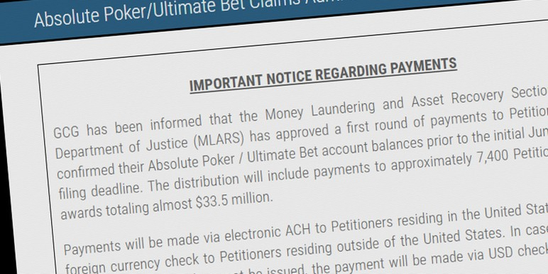 Absolute poker settlement
