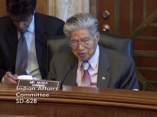 US Senate Committee on Indian Affairs hold meeting to discuss internet gaming regulation.