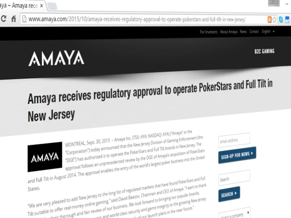 Amaya Press Release