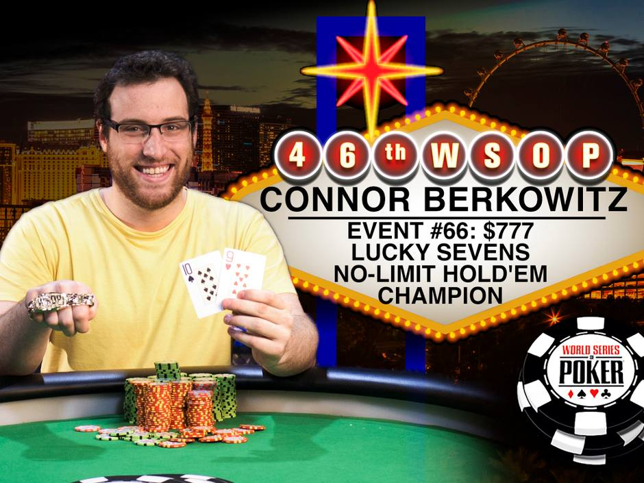 Wsop 2015 Connor Berkowitz Wins The Lucky Sevens For 487 784