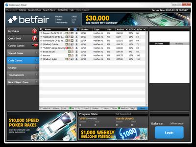 betfair poker network