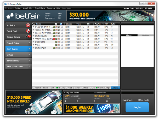 Betfair launches skin on iPoker Network