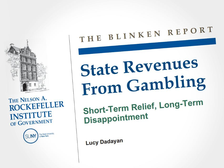 A report from the Rockefeller Institute of Government questions whether state licensed gambling in the US is a viable means of resolving fiscal problems.