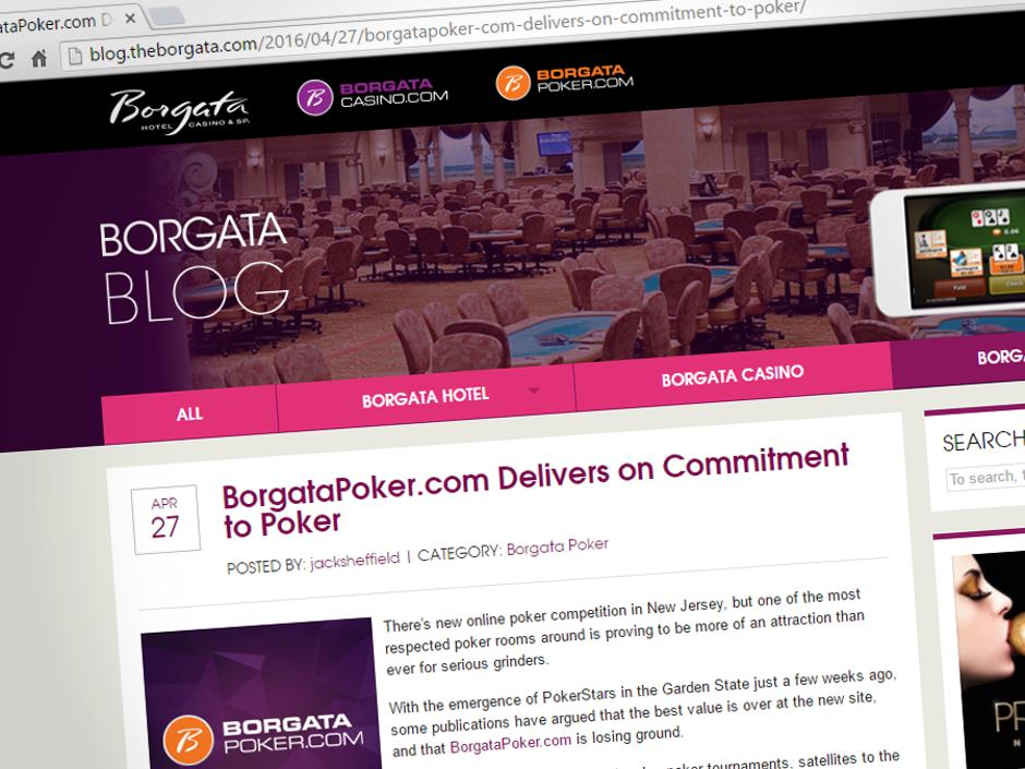 "Hitting back at critics in a recent blog post by Borgata Poker, the site defends itself against those who says it is ""losing ground"" to New Jersey…"