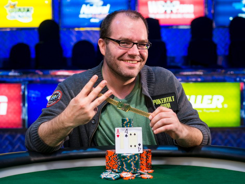 Controversial poker personality Dutch Boyd has won his third bracelet repeating what appears to be a four year cycle—2006, 2010 and now 2014.
