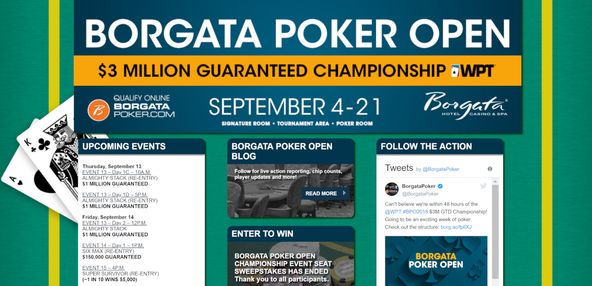 $3 Million Guaranteed WPT Borgata Poker Open Championship Kicks off