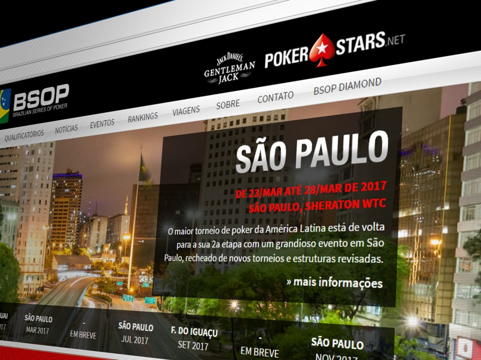 PokerStars has signed on again as the primary sponsor of the Brazil Series of Poker (BSOP), and it also recently announced a new London Series. Both events are complements to its new Championship and Festival brands.