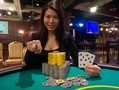 Michelle Chin's victory in the WSOP Circuit Horseshoe Council Bluffs Main Event provided her with a first prize of $88,126 and the first ever female win in a WSOP Circuit Main Event.