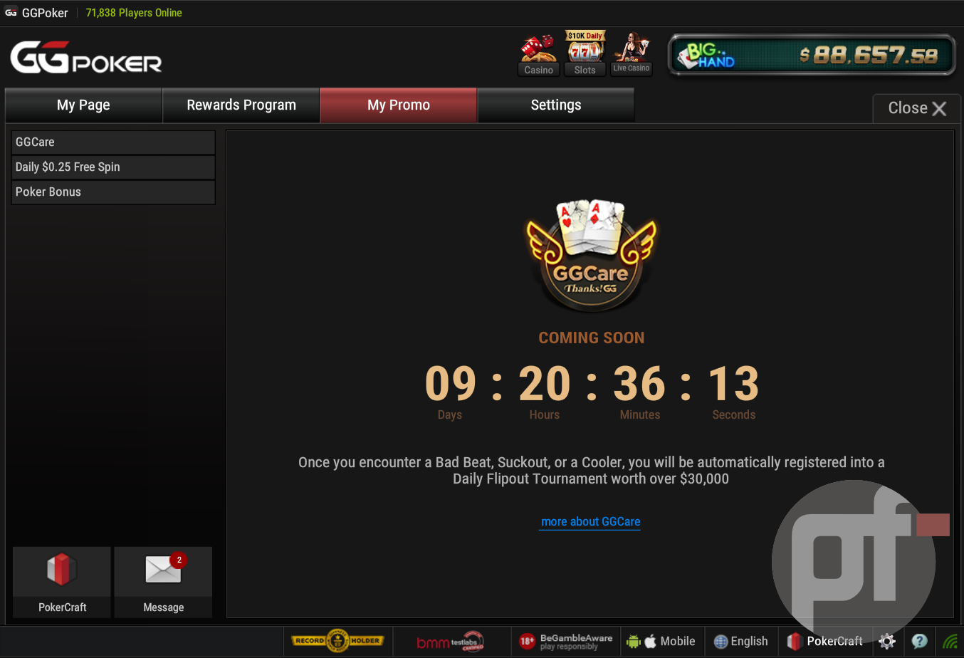 "GGPoker to Introduce Bad Beat Flipout Freerolls for ""Unlucky"" Players"