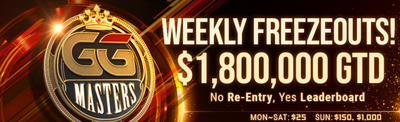 GGPoker Expands GGMasters Tournament Brand, Now Guarantees $1.8 Million Every Week