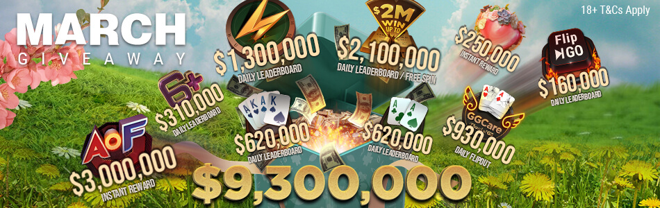 GGPoker's Monster March: Huge Promotions, New Games, Jackpots and Omaha Changes