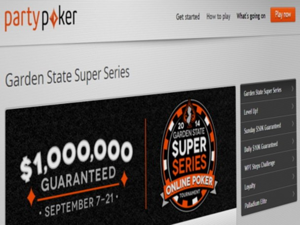 Partypoker New Jersey released its finalized schedule for the upcoming Garden State Super Series (GSSS) which will feature a $1 million guaranteed overall prize pool.
