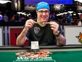 A very happy Jared Jaffee is celebrating his first WSOP bracelet after several years of attempts.