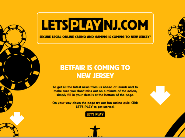 Betfair quietly launches splash-page website with mailing list signup and associated accounts on Twitter and Facebook.