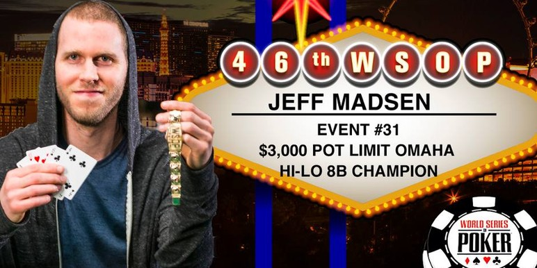Madsen said he was not thinking about Phil Hellmuth's record 14 bracelets as the final hands drew near.