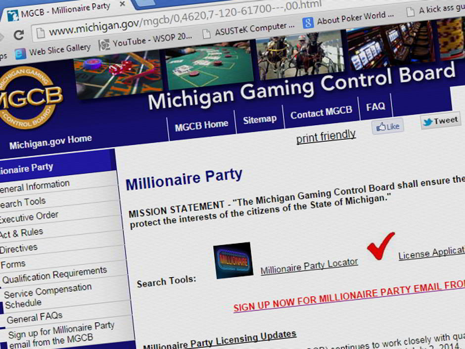 "Days after the Michigan Gaming Control Board (MGCB) announced the success of issuing 161 ""millionaire party"" charity poker tournament licenses, a lawsuit has been filed opposing the emergency rules under which the licenses were issued."