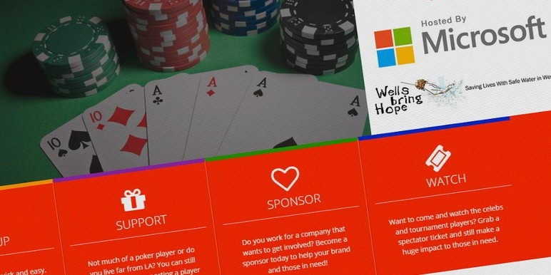 October 11 will see a host of celebrities take part in a poker tournament at Microsoft's premises in Los Angeles, to benefit the Peace Fund.
