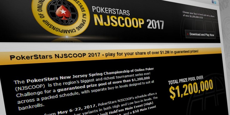 PokerStars has revealed the details for this year's New Jersey Spring Championship of Online Poker (NJSCOOP), scheduling more events and the biggest guaranteed prize pool ever seen in the New Jersey online poker market.