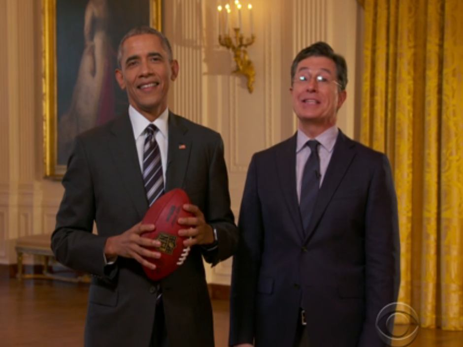 Appearing on a post-Super Bowl episode of The Late Show with Stephen Colbert, President Barack Obama admitted that he sometimes places wagers on sporting events.