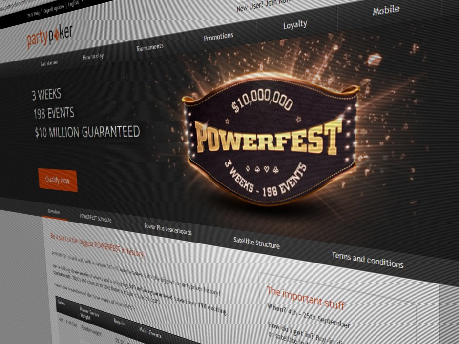 The Powerfest from partypoker is back for the second time this year, and this time it is bigger than ever with $10 million guaranteed over three weeks.
