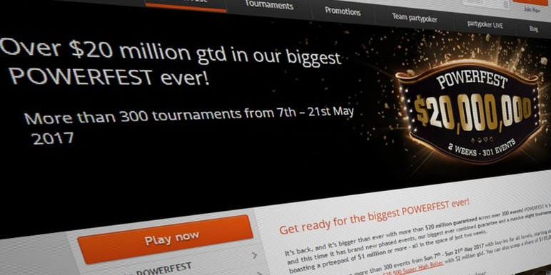 Partypoker has announced a string of promotions in anticipation of Powerfest, its largest ever online tournament series.