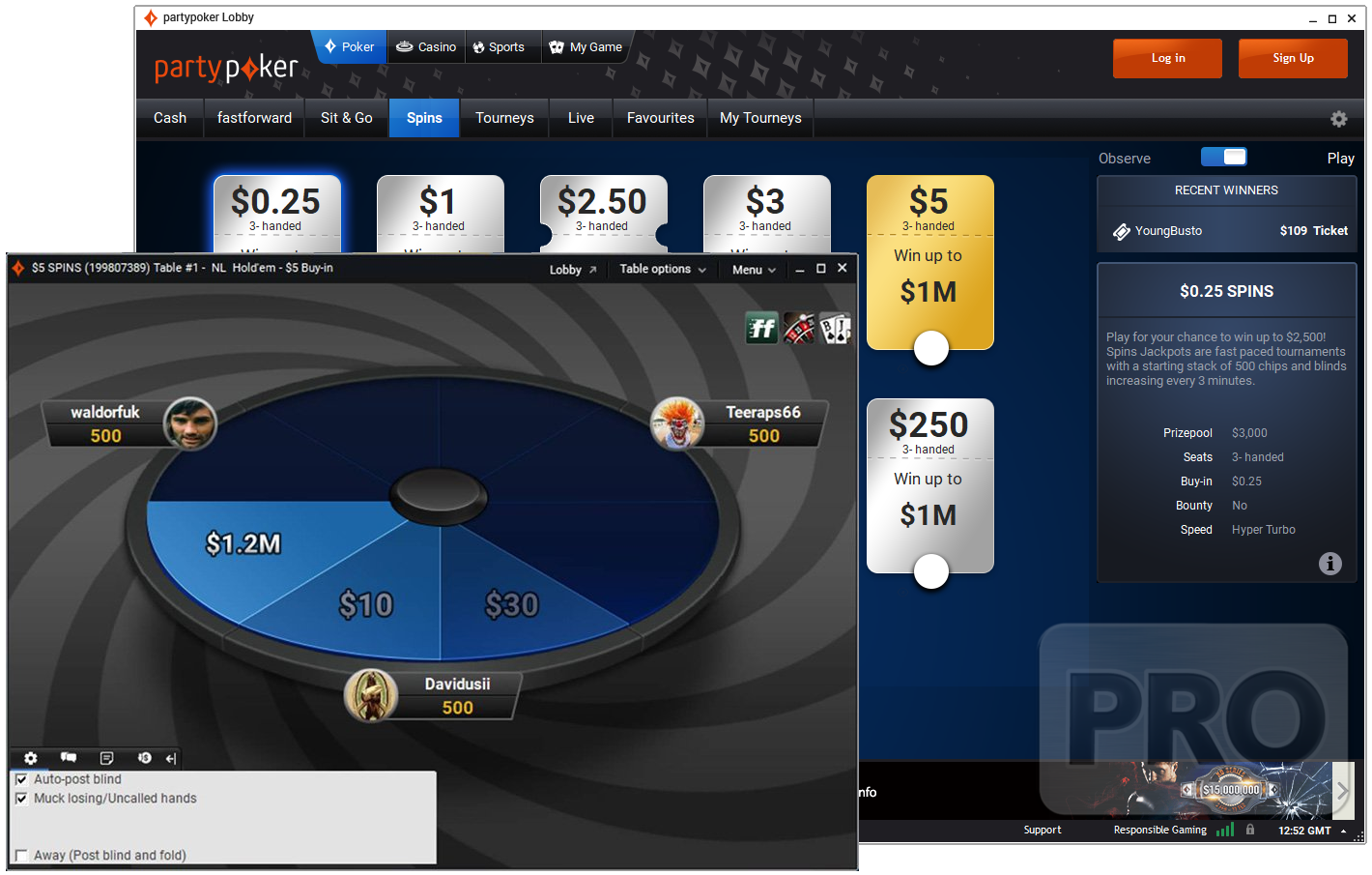 "GVC's online poker brand partypoker has rebranded its lottery-based Sit & Go Jackpots to a new name called ""Spins""."