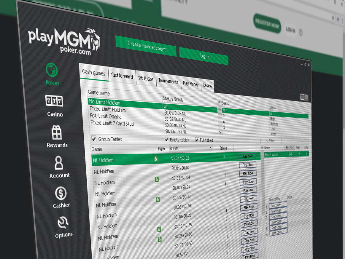 PlayMGM shares poker liquidity with partypoker and MGM's own BorgataPoker.com using GVC's online gaming platform.