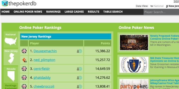 Nj poker online stats