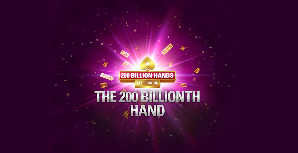 PokerStars is expected to deal its 200 billionth hand on May 1. To celebrate this landmark, the room is giving away more than $1 million across through a variety of promotions across its major markets.