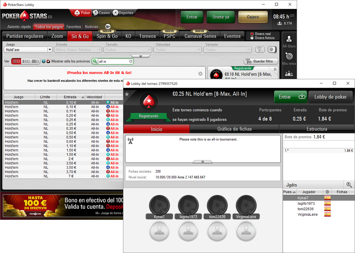 Exclusive: PokerStars Launches Raked All-In Sit Gos in Spain