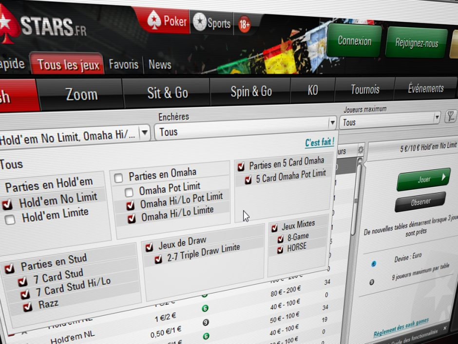 A recent upgrade to the desktop and mobile clients indicates that PokerStars is soon to add new game variants to the cash game and tournament offerings in France.