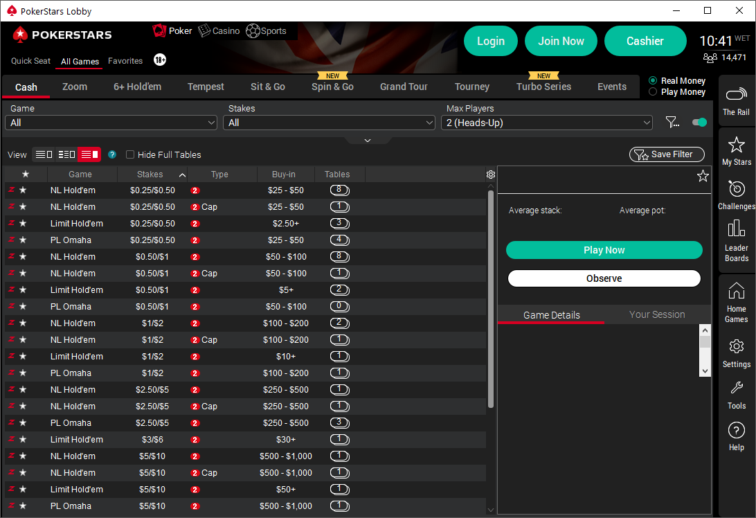 PokerStars Continues to Simplify its Game Offerings by Removing Full Ring Tables and Sit & Gos