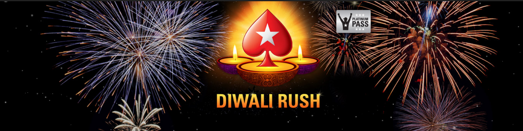 PokerStars unveils its first online tournament series—Diwali Rush for its Indian players. More than 1.5 Crore ($200,000) is guaranteed over the course of eight days.