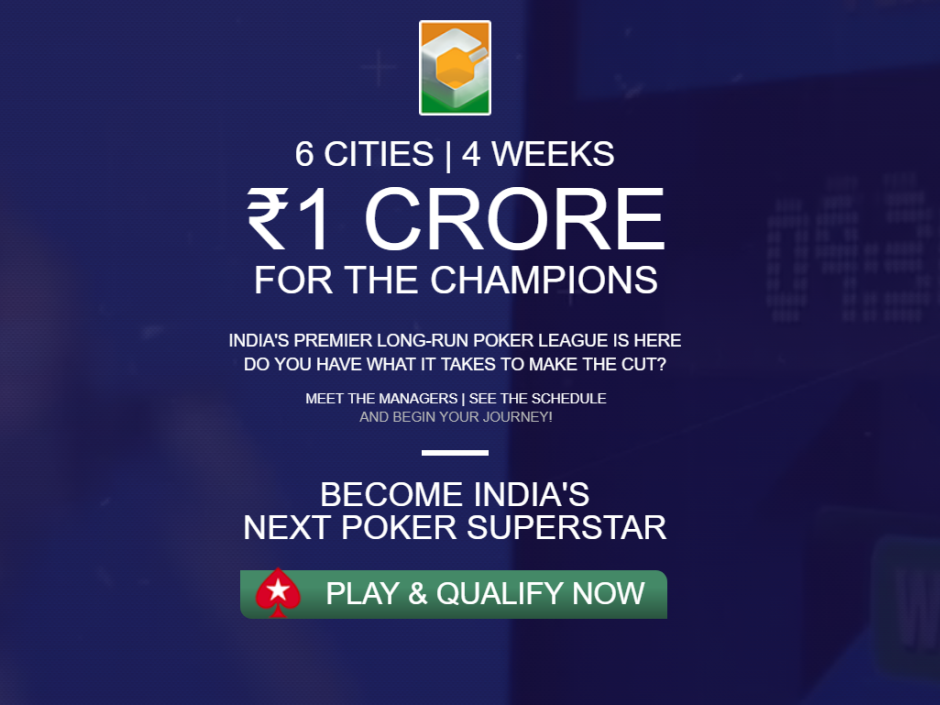 The league will include six city-based teams of five players led by a team manager. The free-to-enter online qualification period will be held on Pokerstars.IN during a six week period from June to August.